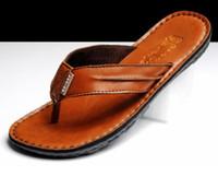 Acheter Semelles de pantoufles de gros-Gros-Mens Sandals Slipper respirant chaussures de plage hommes de la marque mode pantoufles de caoutchouc chaussures hommes seuls hommes occasionnels tongs