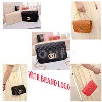 Wholesale Vintage Messenger Bag Women Brand Shoulder Bag Quilted PU Thread Handbag Chain Bag Cross body Plaid Evening Bag MS005