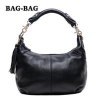Totes real leather handbags - NEW Tassel HOBO WOMEN GENUINE LEATHER HANDBAG women REAL cow s skin shoulder BAGS crossbody bag Fashion girl B210