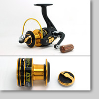 Cheap Wholesale-11+1 Ball Bearings Spinning Fishing Reel for Feeder Fishing Bamboo Handle Coil Carp Spinning Catking Reels Pesca 2000