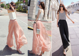 Discount Plus Size Chiffon Maxi Skirt For | 2017 Plus Size Chiffon ...