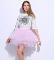 adult womans wear - womans USA tulle short fluffy skirt charming solid colors cm long layers cute outlook mori style adult summer wear