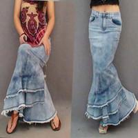Where to Buy Long Slim Denim Skirt Online? Where Can I Buy Long ...