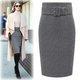 Dark Gray Pencil Skirt Online | Dark Gray Pencil Skirt for Sale