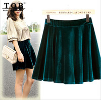 american apparel velvet - TOB new american apparel velvet skirts womens fashion autumn winter saia feminino black wine pleated tennis skirts Q026