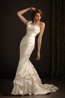 Floor-length wedding dresses 2011 - 2011 Fashion style one shoulder dress Beach Wedding Dresses