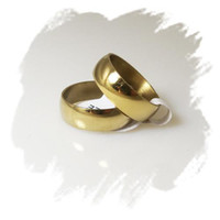 stainless steel rings - Jewelry Fashion Rings Gold Plate Polishing Stainless Steel Rings mm