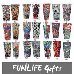Wholesale funlife Styles Available Nylon Elastic Seamless Tattoo Sleeve Stretchy Arm Stocking