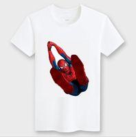 Wholesale Spiderman Shirts For Girls - Wholesale-2015 Children's Printed T-shirtt shirt girls nova top for kids baby children's spiderman summer cartoon children t shirts