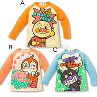 anpanman clothes - Autumn Children clothing Anpanman Coat boy s girl s top shirts Hooded T shirt Soreike Anpanman Long Full Sleeves outfits