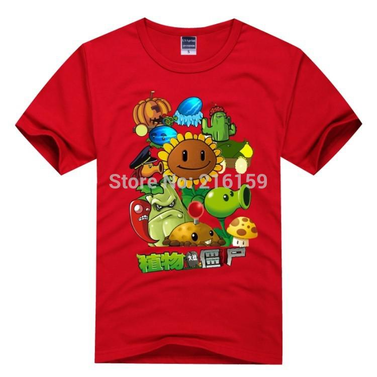 Wholesale new plants vs zombies t shirt children 39 s clothes for Personalized t shirts for kids cheap