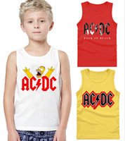 Unisex band t shirt designs - Rock Band ACDC Homer Simpson Cartoon Kids T Shirts Sleeveless acdc Design Children t shirt Unisex Top Tee Shirt