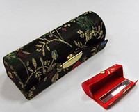 Wholesale Empty Lipstick Storage Containers Lip Balm Tube Silk Metal clasp Lip gloss Cases Free