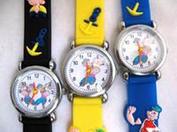 Wholesale Mix Styles Popeye Spiderman Strawberry Tinkerbell etc Kids Gift Watches Children Quartz Wristwatch