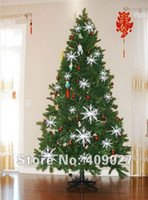 christmas trees wholesale - White Plastic Christmas Snowflake for Christmas Tree Window Showcase Decoration cm