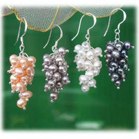 Wholesale Pair Freshwater Pearl Silver Earring pc