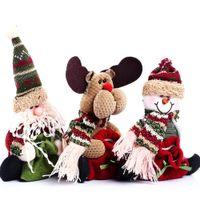 christmas decoration santa claus - Styles Reindeer Snowman Santa Claus Ornament Natal Cute Christmas Stocking New Year Christams Decoration
