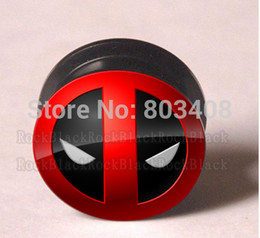 Wholesale Fashion deadpool patter designs acrylic screw ear plug flesh tunnel body jewelry mixing sizes CC41
