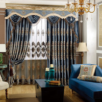 Wholesale Luxury fashion screens curtain fabric quality embroidered curtain finished product
