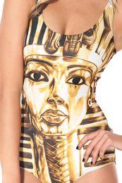 Wholesale-Free Shipping Black Milk Egypt Pharaoh King Tut Swimsuit for Women 2015 Fashion Women's Black Milk Girl Swimsuit