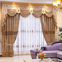 Wholesale Meters quality fashion water soluble embroidered curtain cloth simple european window curtains home