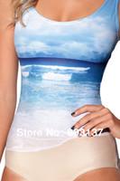 Wholesale Sexy New Women Cover ups Tankinis Set BEACH SWIMSUIT One Piece Digital Print Bath Suit Wetsuit Bkini Drop Ship Hot S125