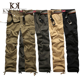 Wholesale cargo pants for women New Arrive Brand Mens Military Cargo Pants for Men More Pockets Zipper Trousers Outdoors Overalls Plus Size Army Pants