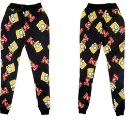Wholesale winter new fashion men women joggers pants D Harajuku Cartoon Simpson bart jogging sweatpants running outfit dropshipping