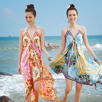 beach vacation essentials - New Style Women Fashion Elegant Vintage Beach Dress Swimwears Cover Ups Travel Vacation Essential STQ