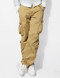 Wholesale-Mens Classic Matchstick Baggy Pants Slant Pocket Cargo Pants SZ 29-44 #3357