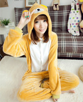 Wholesale Winter Spring Autumn Rilakkuma Cosplay Pajamas One Piece Adult Anime Animal Bear Onesie Unisex Warm Flannel Party Homewear