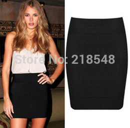 Wholesale-2015 Fashion Women Bandage Skirt White Black Pencil Skirt Brand All-Match Short Solid Skirt Mini Skirts 19 colors XS-L
