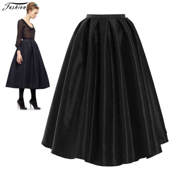 Cheap High Waist Long Flare Skirts | Free Shipping High Waist Long ...