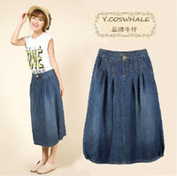 Cheap Long Denim Skirts Plus Size | Free Shipping Long Denim