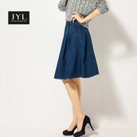 Cheap Denim Skirts For Women Knee Length | Free Shipping Denim ...