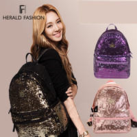 Backpack Style bling backpack - New Casual Women s Colorful Canvas Backpacks Girl Lady Student School Travel bags Mochila Women Bag paillette bling bag