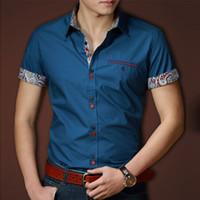 Wholesale Men Shirts Casual Cotton camisas Male camisa Mens Dress shirt camisa social tommy slim fit clothes masculina manga longa