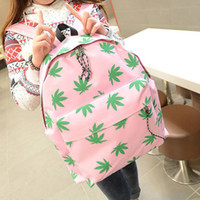 Backpack Style rocking skateboard - New Hot Cannabis leaf Backpack for Girl Boy Punk Rock Bag Canvas Student Schoolbag Casual Skateboard Bags