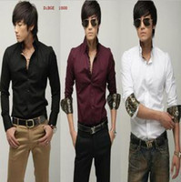 Cheap Casual Shirts sleeved shirt Best Cotton,Polyester Turn-down collar color shirt