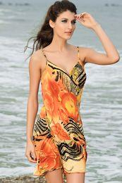 Wholesale moda praia vestidos Necessary Summer Maldives v neck Beach Cover up one piece swimwear for women bathing suit beach dress