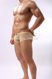 Wholesale Men s Ice Silk Boxers Underwear Man Sexy See Through Underwear Soft Comfy Sport Boxer Shorts Men Healthy Panties Cool
