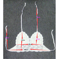 Wholesale TT139 Celebrity Style Women Handmade Lace Crochet Floral Bikini Swimwear Crop Tops Cover Ups Beach Swimsuit Bra Top Camisole New