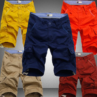 Men big mens cargo pants - mens Shorts Army summer style new fashion board cargo shorts multie pockets casual shorts male big plus size knee