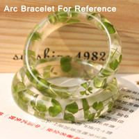arc width - mm Width mm Dia Arc Translucence Silicone Bracelet Mold For Epoxy Resin Real Flower Herbarium Jewelry DIY Mold QM011