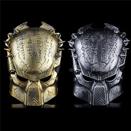 Wholesale New Colors Iron Man Style AVP Costume Masks Supper Replica Alien Vs Predator Mask Warrior Movie Prop AVPR Soldier
