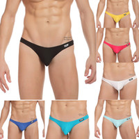 Men None G-Strings & Thongs Wholesale-Hot sale Cheap Price Low waist Mens Cotton Underwear Mens thongs and g strings Sexy mens pouch penis TM men's male birds type