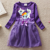 baby clothes retail free shipping - Retail Y Baby Clothes My little pony Children Kids Girls Casual Dress New My little pony Dress Girls Dresses