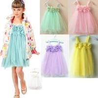 TuTu balls sling - Toddlers Baby Kids Girls Floral Lace Sling Dress Tulle Puff Dress ACA