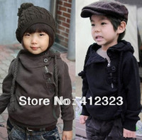 Wholesale baby children boys girls hoody coat Sweater with fleece kids Fashion Cute Zipper Sweaters hoodies outwear
