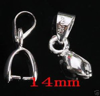 Wholesale Rhodium Plated Pendant Pinch Bail mm Pinch Bail Size MM Pendant Clips Charm Jewelry Findings